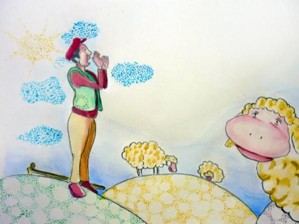 Ὁ βοσκός καί τά πρόβατα