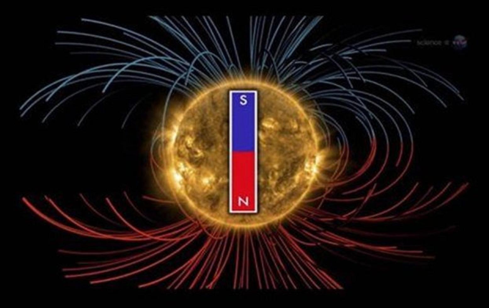 To πανίσχυρο μαγνητικό πεδίο του Ήλιου αλλάζει πολικότητα κάθε 11 χρόνια Πηγή:NASA