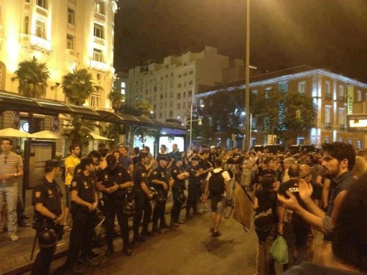 Στήν Μαδρίτη οἱ ἀστυνομικοί παράτησαν τίς θέσεις τους;