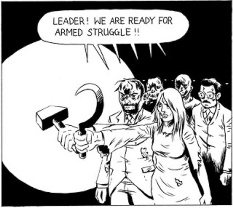 Ἐξοργισμένοι ἀνεργοι καταστρέφουν τὸ κοινοβούλιον. 6