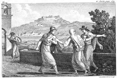 Ἡ μορέττα. Zakynthians by Antoine Laurent Castellan 1808
