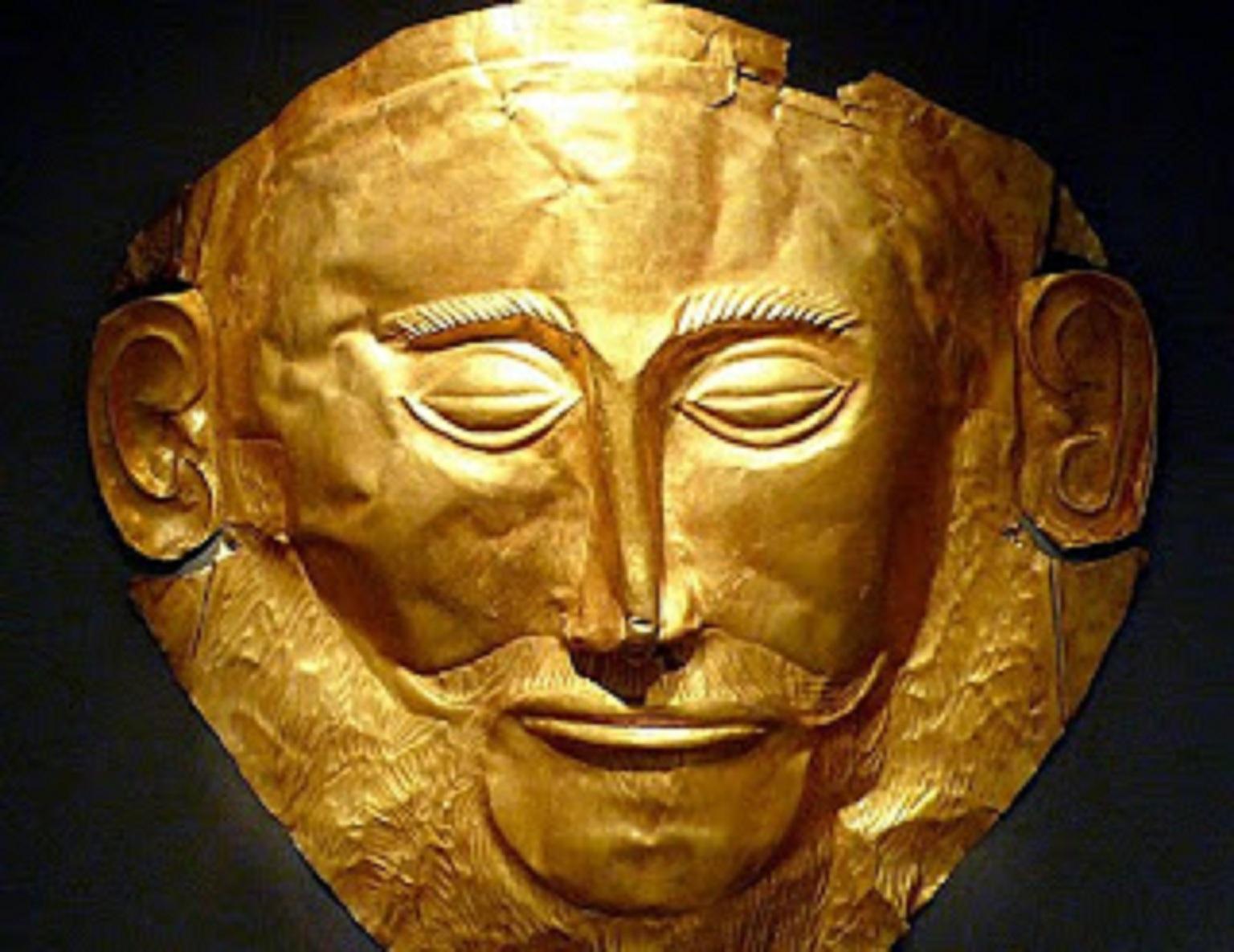 Το αντίγραφο της νεκρικής χρυσής μάσκας του Αγαμέμνονα