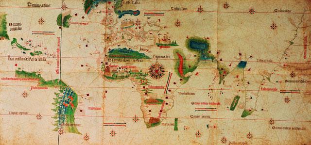 Ὁ χάρτης τοῦ Κολόμβου.
