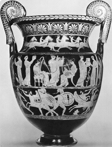 500 π.Χ.:  Αρχαίος Ελληνικός αμφορέας.
