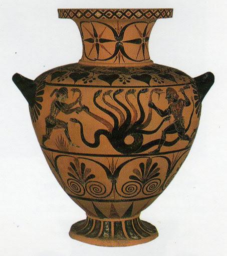 525 π.Χ.: Ηρακλής και Λερναία Ύδρα.