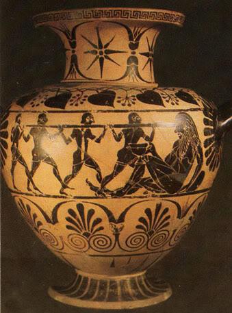 520 π.Χ.: Ο Οδυσσέας τυφλώνει τον Κύκλωπα.