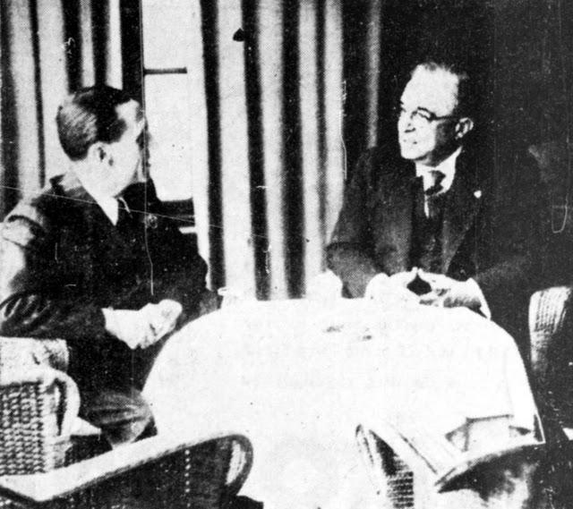 """Συνάντηση του Γκαίμπελς με τον Μεταξά την ίδια ημέρα. Λίγο αργότερα ο ναζιστής ηγέτης επισκέφτηκε τη μεγαλόπρεπη βίλα της οικογένειας Μέρκελ στην Αθήνα. Ο χερ Μέρκελ ήταν διευθυντικό στέλεχος της """"Τελεφούνκεν"""" στην Ελλάδα μέχρι το 1940, που του υποδείχθηκε να φύγει από την Ελλάδα ως ύποπτος για κατασκοπεία."""