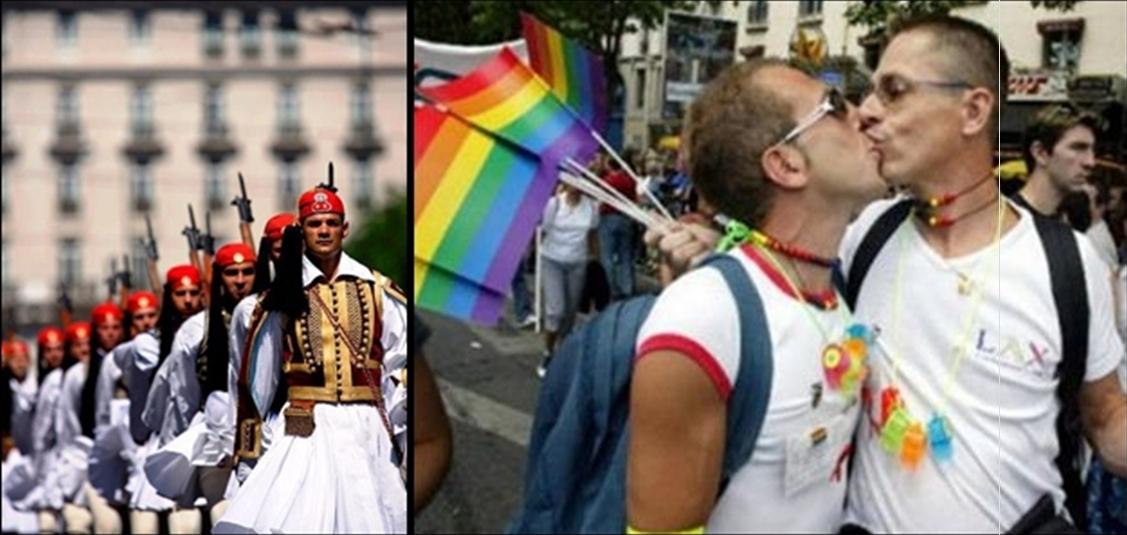 Αριστερά,η εικόνα που προσβάλλει την αισθητική του δημάρχου. Δεξιά,η εικόνα του γούστου του,εξού και οι gay παρελάσεις που εγκαινιάστηκαν επί του δημαρχιακού του βίου!