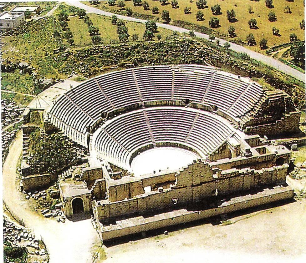 Αρχαίο θέατρο στην πόλη Γεράσα