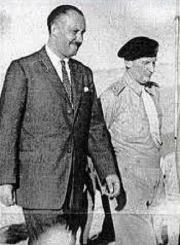 Ο Μπάλφουρ με τον στρατηγό Μοτγκόμερι στην Αθήνα