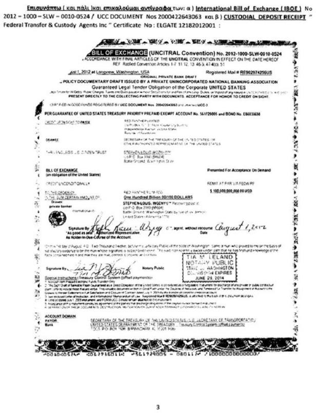 Εικόνα 1: Το πλαστό χρεόγραφο που έστειλε ο Σώρρας στο Ταμείο Χρηματοπιστωτικής Σταθερότητας και το οποίο αποκρύπτει από τους οπαδούς του. Όταν το κύκλωμα θέλει να εμφανίσει «στοιχεία» δεν διστάζει να παραποιεί έγγραφα ή να αφαιρεί σελίδες. Ολόκληρη η εξώδικη πρόταση Σώρρα για την αγορά των μετοχών των ελληνικών τραπεζών βρίσκεται εδώ.