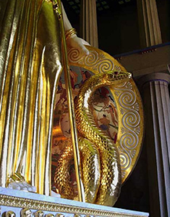 Έτοιμος ο Πύθωνας την 14η εβδομάδα... Διακρίνονται οι παραστάσεις στο εσωτερικό της Ασπίδος