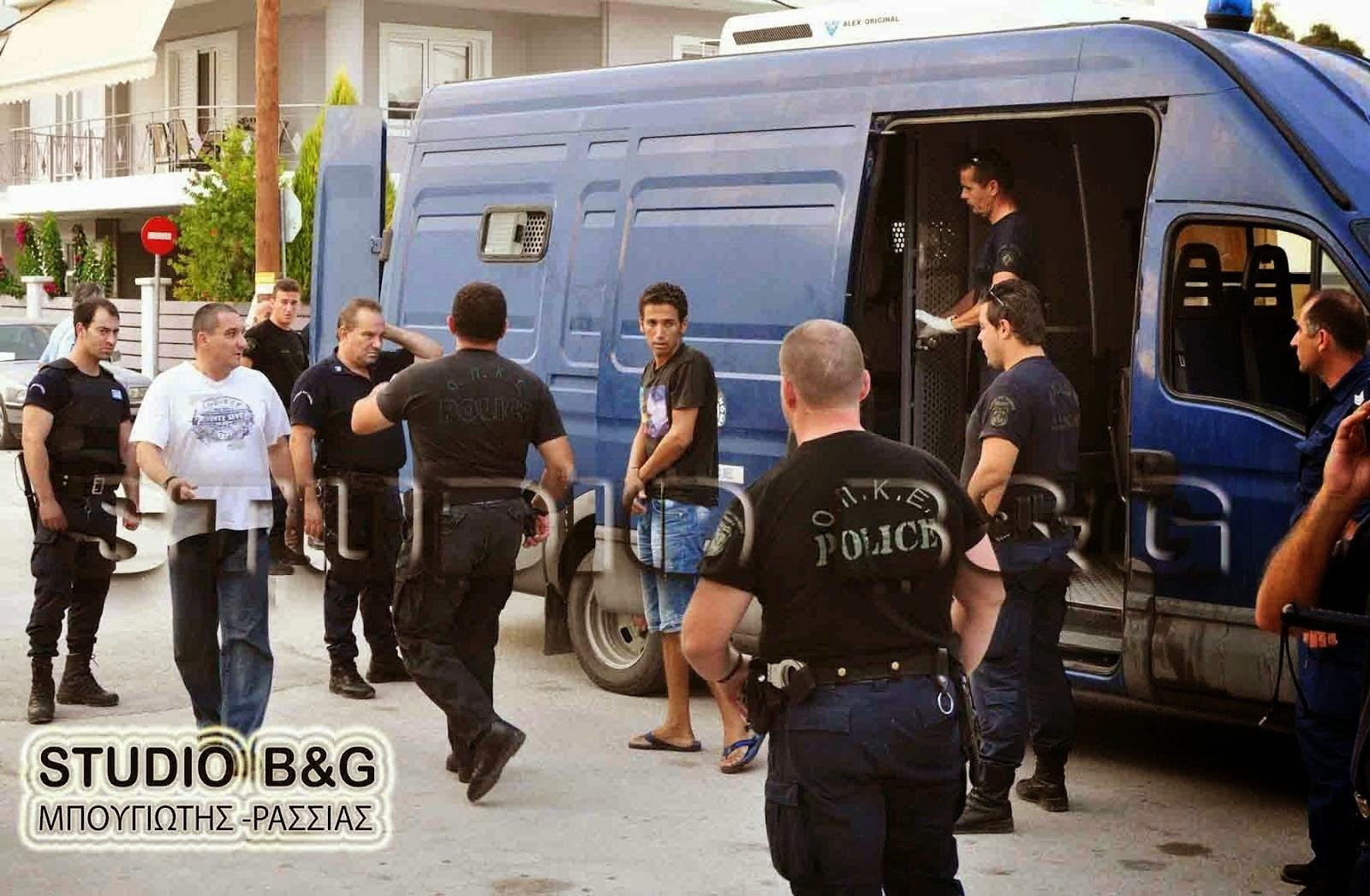 Συνελλήφθησαν 18 ἀλλοδαποί καί ἕνας Ἕλληνας στή Νεμέα
