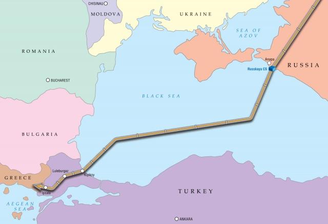 Τὸ φυσικὸ ἀέριο θὰ ἀρχίση νὰ ῥέῃ στὸν Turkish stream τὸν Δεκέμβριο τοῦ 2016, σύμφωνα μὲ τὴν Gazprom1
