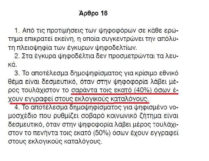 Τὸ δημοψήφισμα εἶναι ΑΚΥΡΟ καὶ ἀποτελειώνει τὴν δημοκρατία (τους)!!!1
