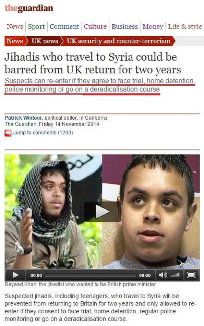 Ἔχουν κάθε δικαίωμα ἐπανεντάξεως στὶς εὐρωπαϊκὲς κοινωνίες οἱ χασάπηδες τῆς ISIS.