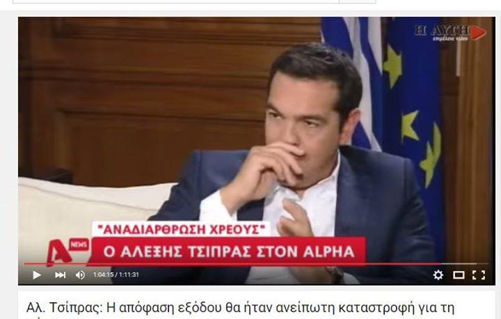 Ἡ παραίτησις Τσίπρα ΚΡΥΒΕΙ τὴν συν-ΕΡΓΕΙΑ του στὴν λεηλασία!!!1