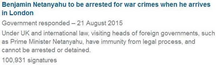 Οἱ Βρετανοὶ ζητοῦν τὴν σύλληψη τοῦ Νετανιάχου...2