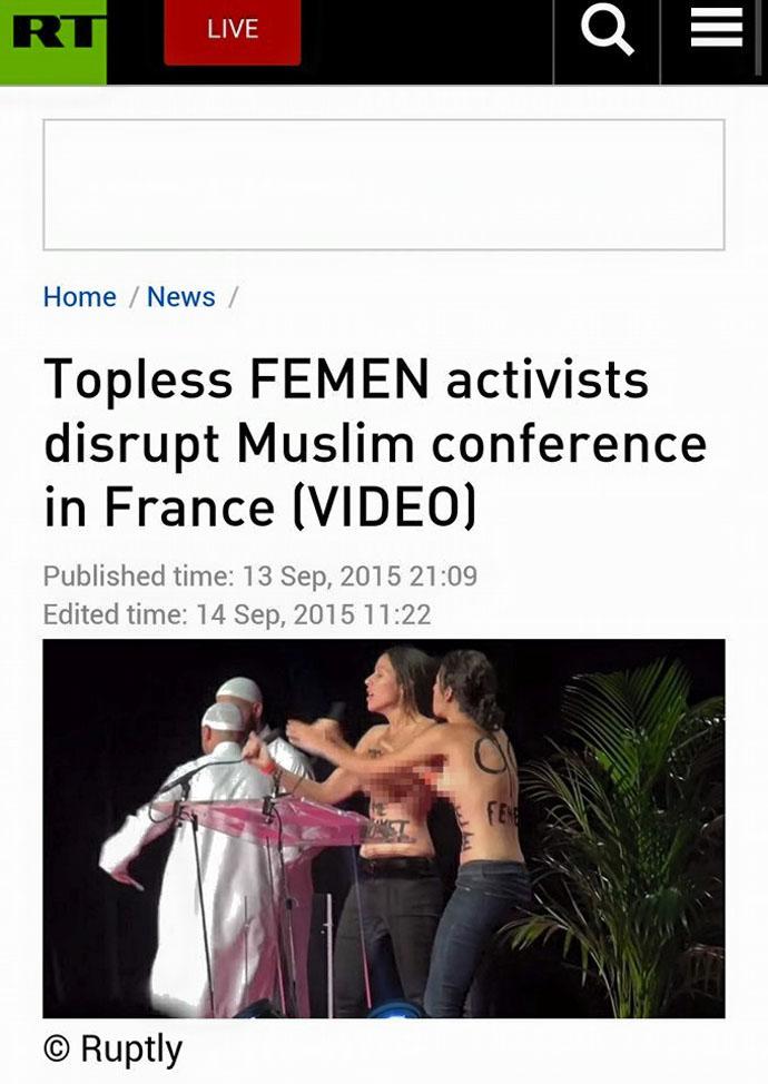 Παντοῦ «κτυποῦν» οἱ Femen, ἐκτὸς ἀπὸ ...συναγωγές!!!1
