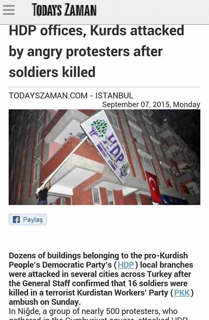 Τό HDP στόχος ἐπιθέσεων στήν Τουρκία;
