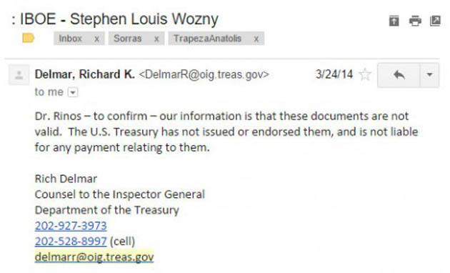 Εικόνα 2. Η απάντηση του Richard Delmar, συμβούλου στο γραφείο του γενικού επιθεωρητή του αμερικανικού υπουργείου οικονομικών.