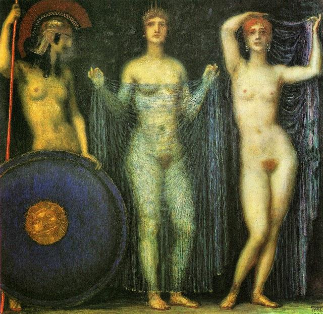 Οἱ τρεῖς Θεές - Ἀθηνᾶ, Ἥρα καὶ Ἀφροδίτη The Three Goddesses - Athena, Hera and Aphrodite (1923), Franz Stuck