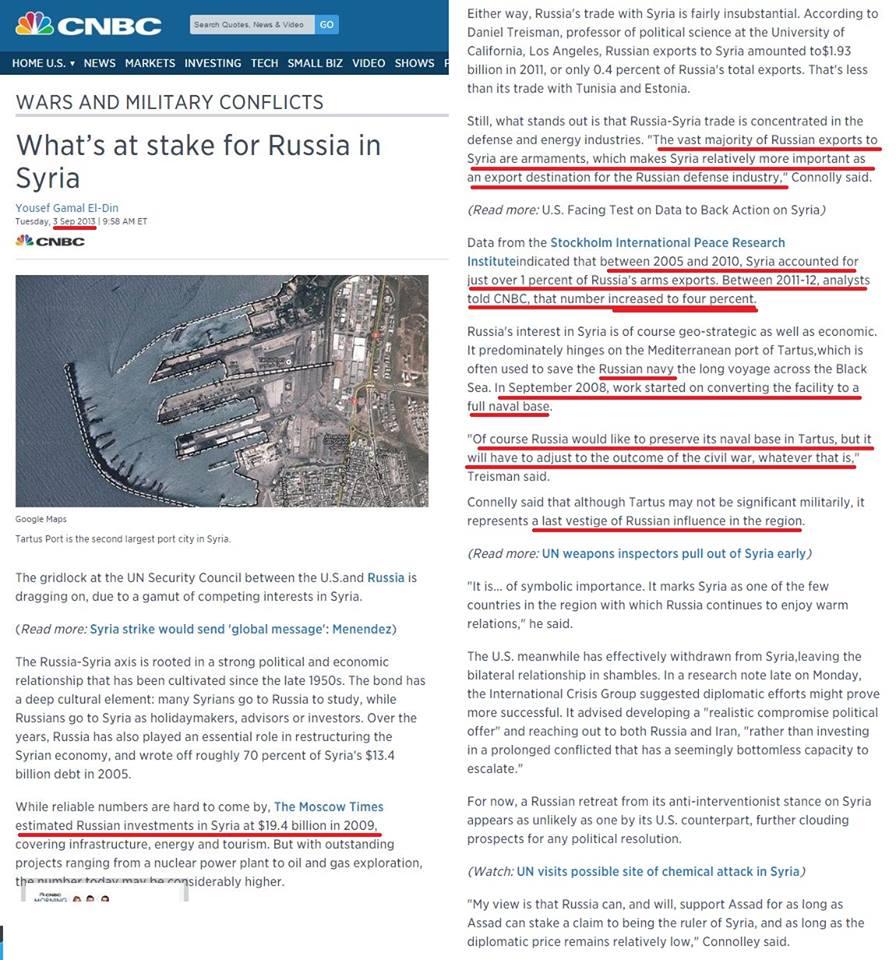 Ἡ ῥωσσικὴ ἐπένδυσις στὴν Συρία1