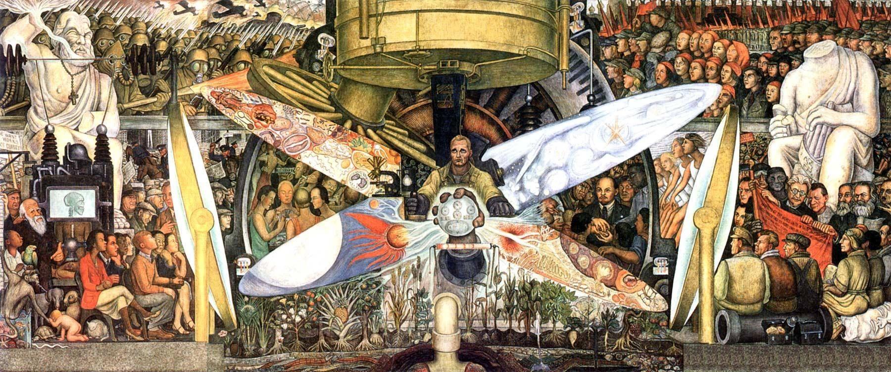 Ὁ Diego Rivera καὶ ὁ John D. Rockefeller, Jr.