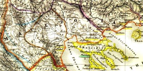 Τμήμα χάρτη του H. Kiepert, 1869, Μακεδονία