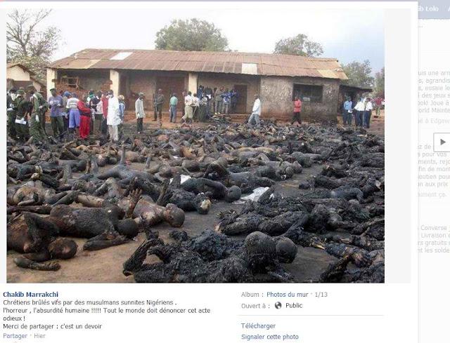 καμμένοι χριστιανοὶ στὴν Νιγηρία