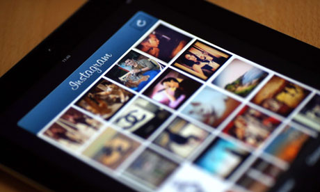 Instagram on a smart phone