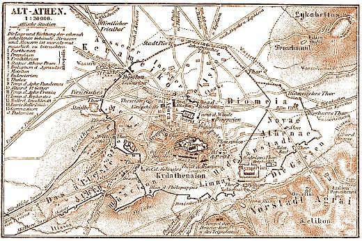 Ἀθηναίων Πολιτεία, Ἀριστοτέλους  Karte_Athen_MKL1888