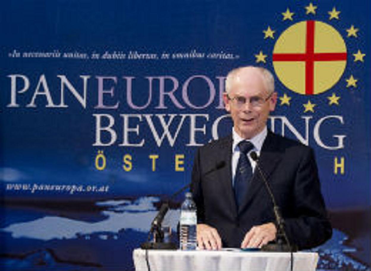 Ο Van Rompuy κατά την βράβευση του