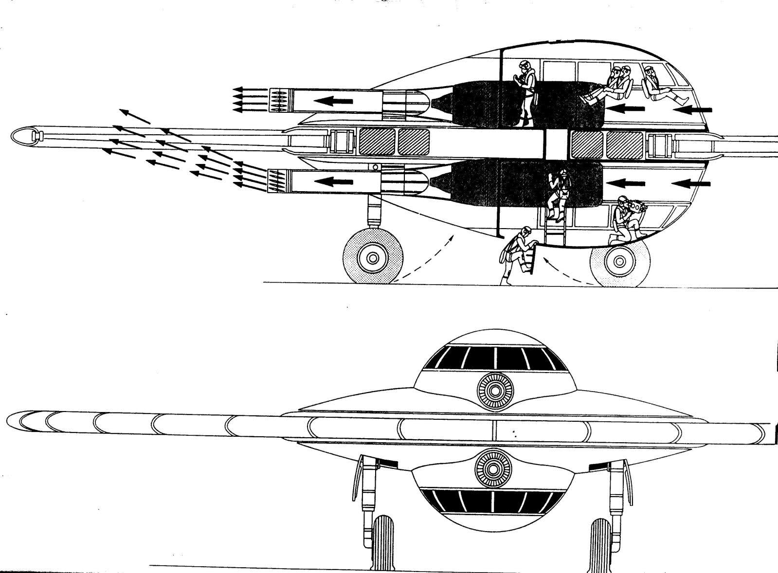 Η εμφάνιση του Flügelrad απαρτιζόταν από ένα κεντρικό σώμα που περιέβαλλε έναν μοναδικό χειριστή, που καλυπτόταν από ημισφαιρικό θόλο. Με τη σειρά του και αυτός περιβαλλόταν από ένα περιστρεφόμενο δίσκο, του οποίου το κάτω μέρος φιλοξενούσε έναν ΒΜW 003 jet κινητήρα, δεξαμενές καυσίμου, έναν εκτροπέα Stahlrohr και έναν τροχοφόρο τετράποδο μηχανισμό προσγείωσης, χωρίς φρένα και αμορτισέρ. Η πτήση του οχήματος γινόταν με την εκτροπή των αερωθούμενων καυσαερίων σε έναν έλικα 16 πτερυγίων, με υδραυλικούς ενεργοποιητές πεπιεσμένου αέρα. Σκοπός του Flügelrad ήταν η λήψη αεροφωτογραφιών και λειτουργούσε με καλύτερη ταχύτητα από ένα ελικόπτερο, λόγω του αεροδυναμικού σκελετού του, χωρίς την ίδια ανθεκτικότητα. Επειδή τα Flügelrads ήταν εξοπλισμένα με πυρσός, κατόρθωσαν να εξολοθρεύσουν τις αμερικανικές δυνάμεις εισβολής κατά την «Επιχείρηση Ηighjump»