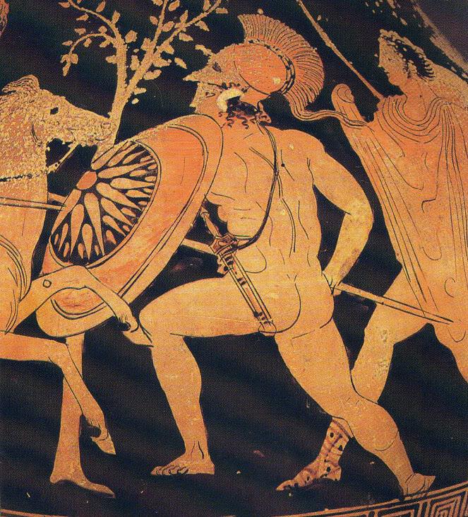 4ος αιωνας π.Χ.: Έλληνας οπλίτης εναντίων Πέρση στρατιώτη. Διαβάστε περισσότερα: http://www.ellinikoarxeio.com/2010/10/ancient-hellenic-sun-of-vergina.html#ixzz2bW6vRaNU