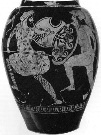 ος αιωνας π.Χ.: Έλληνας οπλίτης εναντίων Πέρση στρατιώτη.