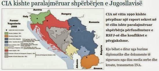 Ἀπὸ τὸ 1990 γνώριζε ἡ CIA τήν διάλυσι τῆς Γιουγκοσλαυΐας.