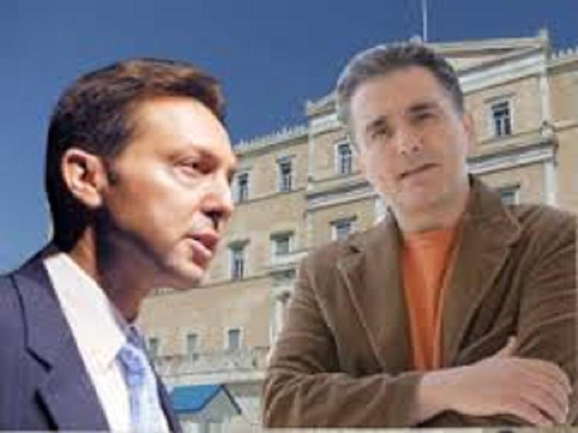 Οἱ πρώην ΚΝίτες Τσακαλῶτος καὶ Στουρνάρας.