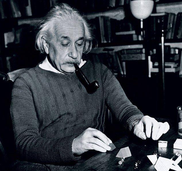 Albert Einstein at Princeton, USA, 4 February 1944.