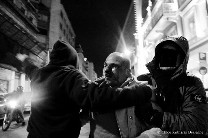 A passerby got beaten ,on Ermou street,by some people who thought that he was a Golden Dawn member because of his army bag.