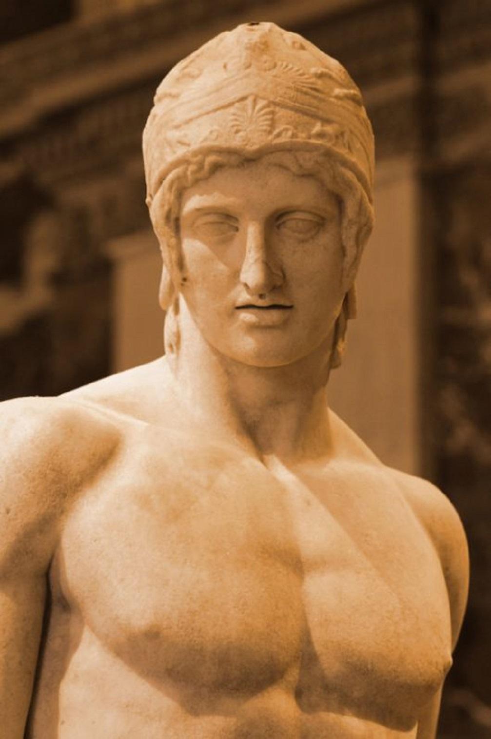 Ἂρης, 2ος αἰ. π.Χ. ἀπὸ τὴν Ἀγορὰ τῶν Ἀθηνῶν. Μουσεῖο Λούβρου. Ares. Free-standing statue, 2nd century BC. From the agora in Athens. Louvre Museum.