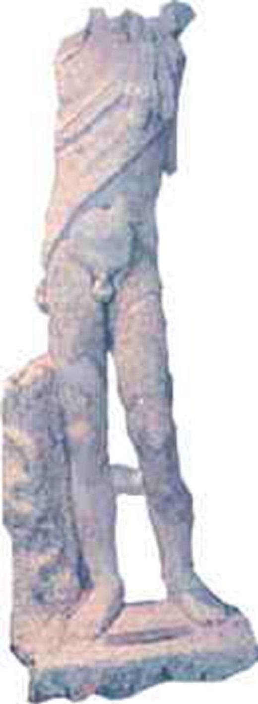 Φωτογραφία: Ακέφαλο άγαλμα του Διόνυσου με δορά πάνθηρα και ράβδο με φίδι. Βρέθηκε στην περιοχή της Κρηστωνίας (Κεντρική Μακεδονία), στο χώρο του Παλατιανού Κιλκίς.