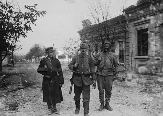 German, Bulgarian and Turkish Soldiers on Patrol Together