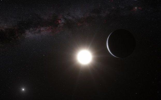 Καλλιτεχνική ἀπεικόνισος τοῦ Alpha Centauri Bb. Credit: ESO/L. Calcada/N. Risinger