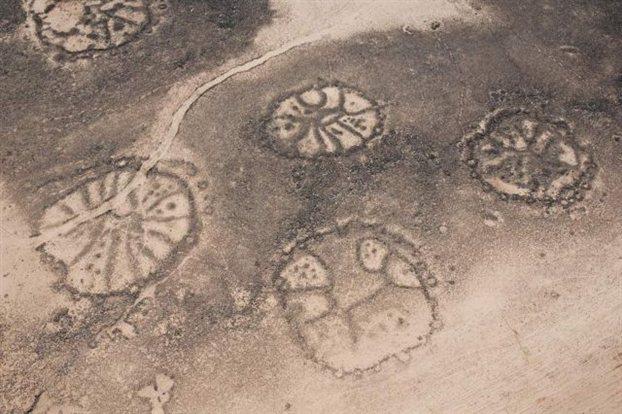 Οι πέτρινοι «τροχοί» της Ιορδανίας από αέρος