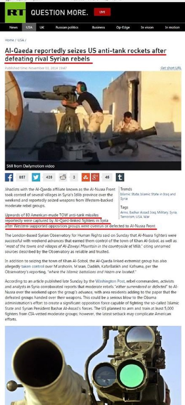 Ὅλο ...«κατὰ λάθος» ἐξοπλίζουν τὴν ISIS!!!