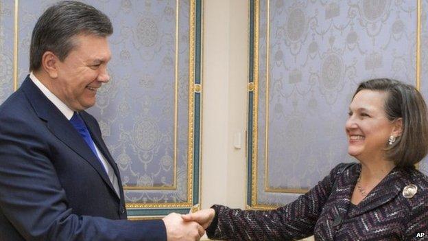 She also met President Yanukovych