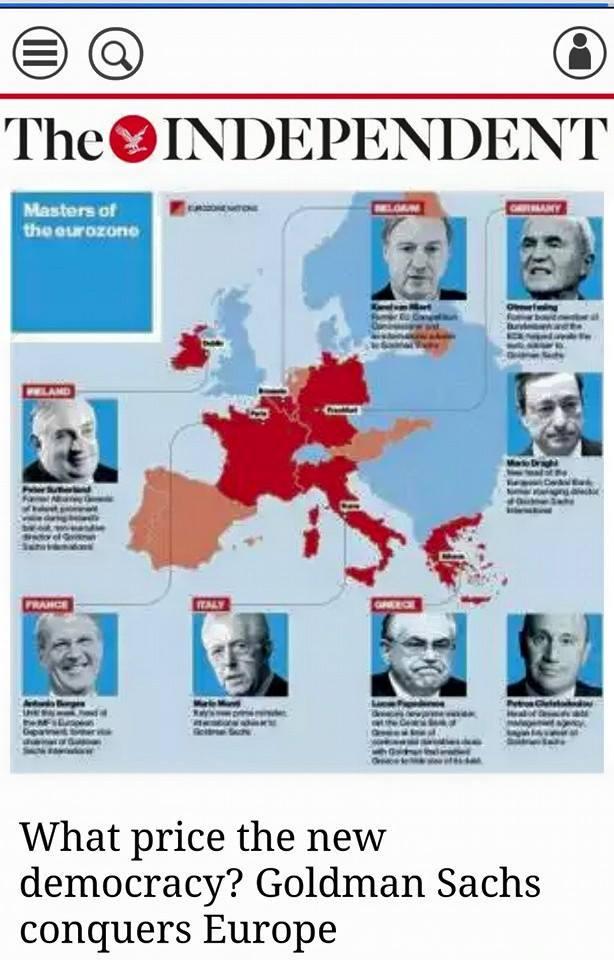 Στὶς δημοκρατίες τους  ἡ Goldman Sachs ἀποφασίζει!!!2