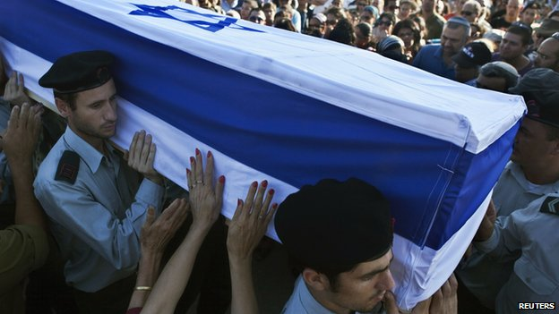 Netanyahu's miscalculation is reflected in a large number of soldiers killed while attacking Gaza. Burial in coffins is not a Jewish practice, but it was adopted by the IDF due to the physical conditions of its dead. In this case, it is the burial of a Golani lieutenant killed in the Battle of Shuja'iyya.