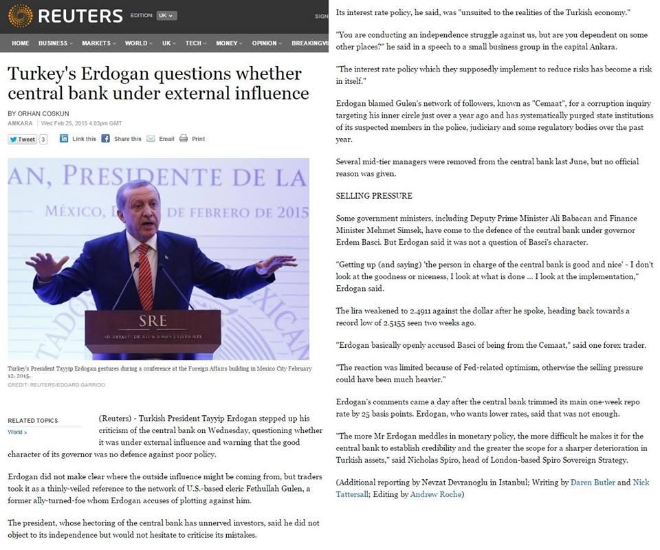Σὲ Ἑλλάδα καὶ Τουρκία οἱ Κεντρικὲς τράπεζες δουλεύουν γιὰ ...ἄλλους!1
